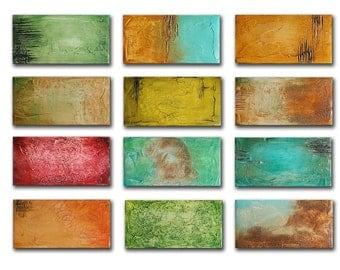 Original Abstract Painting, Mixed Media, Colorful Painting, Sculpted Textured Painting, Abstract Art 24x36