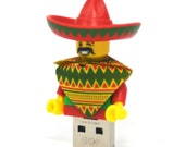 16GB USB Memory Drive in a Taco Tuesday Man original LEGO Movie minifigure