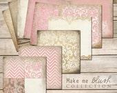 Make Me Blush Digital Paper Collection
