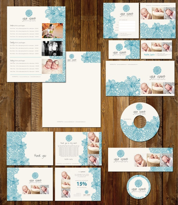 Boutique Marketing Package - The Flower Blues - INSTANT DOWNLOAD