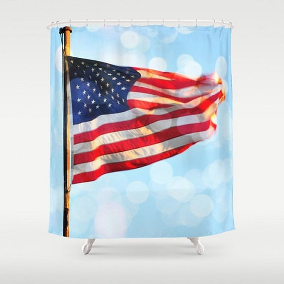 Items similar to american flag shower curtain stars and Stars and stripes home decor