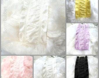 Powder Puff - pick a color - 7 color choices - handmade bath pouf - by Bonny Bubbles