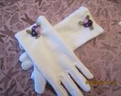 Girls Easter Gloves  - Girls White Gloves - Tea Party gloves - Girls dressy gloves
