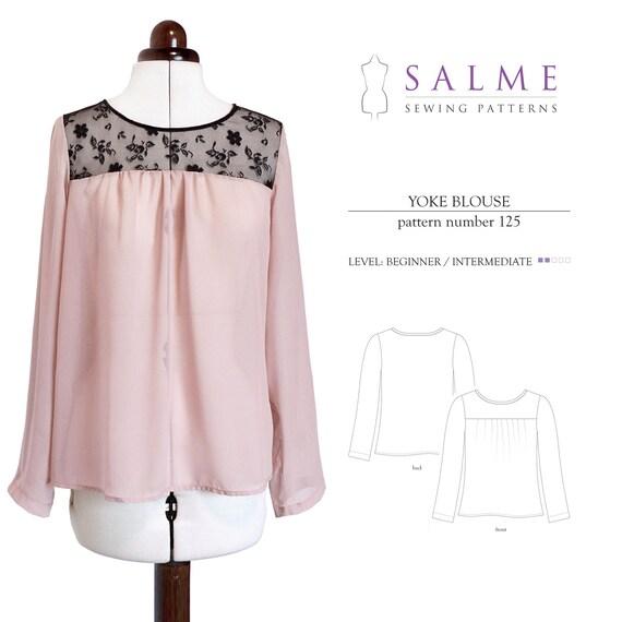 PDF Sewing pattern - Yoke Blouse