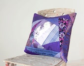 Purple Pillow Cover  Patchwork OOAK