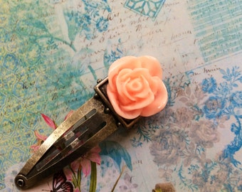 Shirley Temple  Rose Barrette Hair Accessory