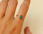 Gold and Turquoise Stone Ring