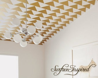 "Metallic Gold Wall Decals Triangle Wall Decor - 5.25"", 10.5"", 22"" triangles for nursery and kids rooms"