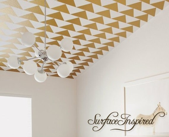 Triangle Metallic Gold Decals by SurfaceInspired