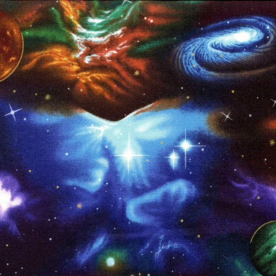 Stargazer midnight outer space robert kaufman 1 yard for Outer space studios