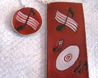 Musical Leather Bookmark