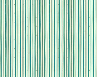 Witch Hazel by Riley Blake Designs - Witch Stripe Green - Retro Green and Cream Stripe Halloween Quilt Fabric
