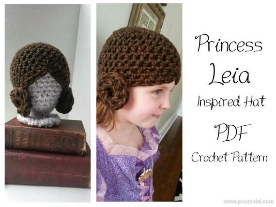 Crochet Pattern Princess Leia Hat : Items similar to Princess Leia Inspired Crochet Hat ...