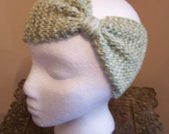 Hand Knit Seaspray Mist Ear Warmer
