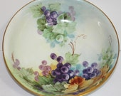 Early 20th Century Hand Painted John Haviland Porcelain Fruit Bowl - Item 1200-1