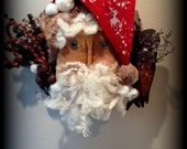 Made-to-Order Primitive Grunged Vintage inspired Santa Door Greeter Rusty Bell, Rusty Barn Star, Rusty Snowflake, Candy Cane, OFG, HaFair,