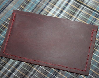 Handcrafted minimalist wallet/card holder oiled leather