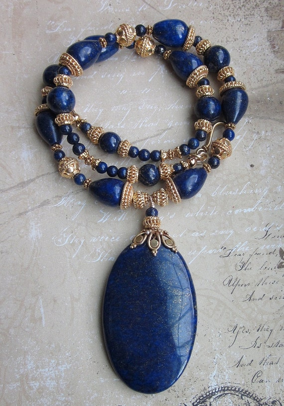 Necklace of Nephthys --Lapis and Vermeil