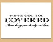Printable Coat Check Sign and Hang Your Coat Here Sign- 2 signs one price