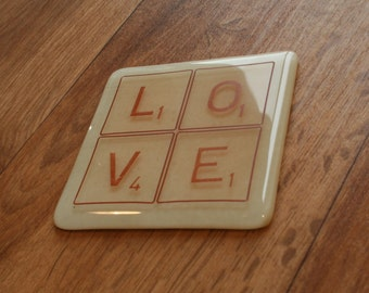 Letter Tile Coaster - Made to order with any colour and any letters