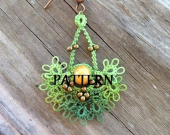 Tatting Pattern for Yoana's Earrings