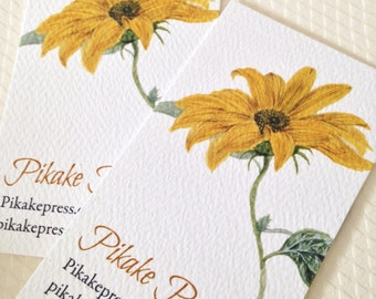Personalized Calling Cards, Business Cards, Sunflower, Set of 50