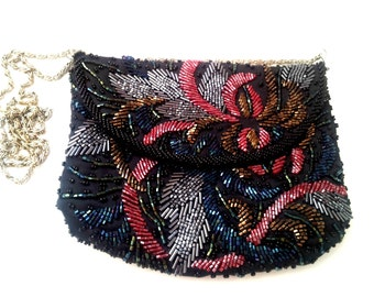 Colored Flapper style evening Bag