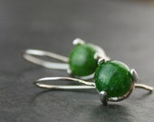 chrome diopside and sterling silver earrings - READY to SHIP