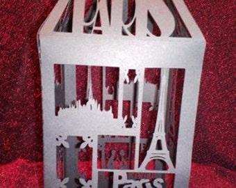 DIY Paris Lantern centerpiece