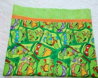 Teenage Mutant Ninja Turtles Childrens or Travel size  Pillow Case