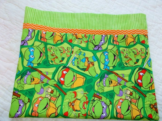 Teenage Mutant Ninja Turtles Childrens or Travel size Pillow Case