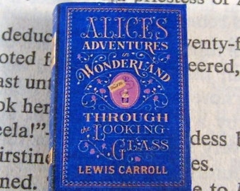 Miniature Classic Novels Book Necklace Charm Alice in Wonderland Version 3