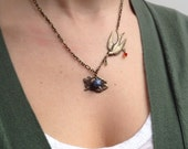 Swooping Bird Necklace - My Nesting Place