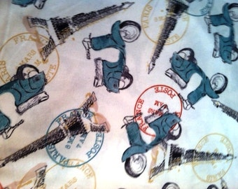 Paris Vespa print flannel pajama pants lounge dorm made to order your choice size XS - 2X