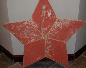 Rustic Red Barn Wood Star
