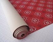 Vintage Red Wallpaper Bandana Pattern, 2 Yards