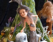 "OOAK polymer clay art dolls, ""Allegory of Life: The Four Seasons"" dryad, pixie, fairy, sprite, gnome by Lori Platt of The Pixie Knoll"