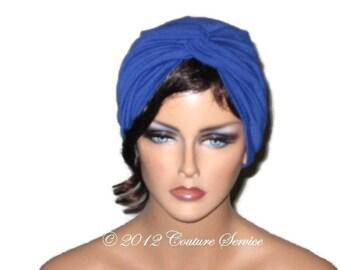 Blue Turban, Women's Blue Turban,  Blue Handmade Turban, Blue Fashion Turban, Blue Twist Turban, Full Blue Turban, Solid Blue Turban, Royal