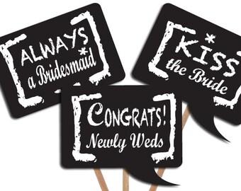 D.I.Y Wedding photo booth props: Chalkboard