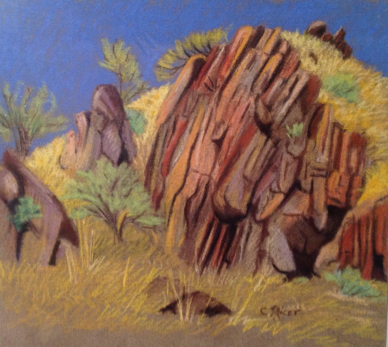 Original landscape pastel rocks at fossil oregon for Landscape rock delivery near me