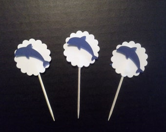 Jumping Dolphin Cupcake Toppers
