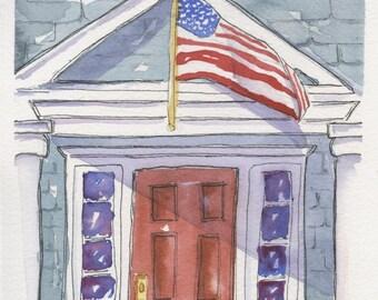 Custom Watercolor Home Portraits by artist Sue Grilli