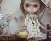 Customized Blythe Doll - Agnes. Complete with Custom Stand & Carry Case