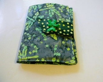 Green Dragonfly Batik Kindle Touch/Paperwhite Cover