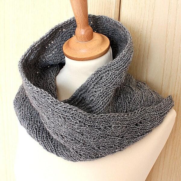 Knitting Pattern Cowl Moebius Unisex pdf file