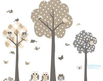 Children Tree Decals Nursery Tree Decal Owl decal