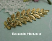 5pcs Golden Plated Filigree Leaves Branch Pendant Charm,Nickel Free