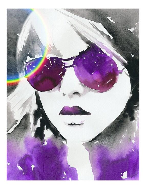 Fashion Illustration, Watercolor Fashion Print, Debbie Harry, Blondie Painting, Fashion Illustration Print, Fashion Sketch, Blondie Poster