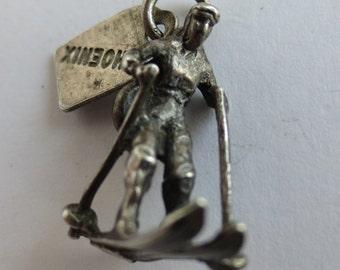 PHOENIX ARIZONA SKIER Sterling Silver Charm or Pendant