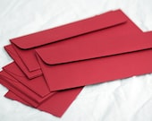 envelopes  | mailing envelopes | colored envelopes | fall wedding ideas | fall wedding colors | party invitations | QTY 7 red envelope